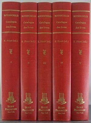Catalogue Des Livres Composant La Bibliotheque De Feu M. Le Baron James De Rothschild [Five Volumes...