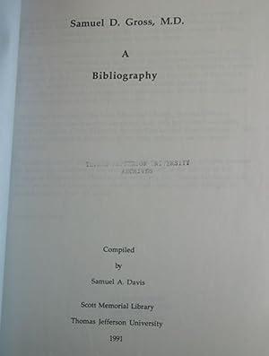 Samuel D. Gross, M.D.: A Bibliography: Davis, Samuel