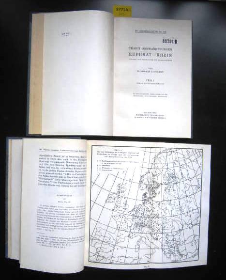 Traditionswanderungen Euphrat - Rhein. 2 Bde. Studien: Volksbräuche. - Liungman,