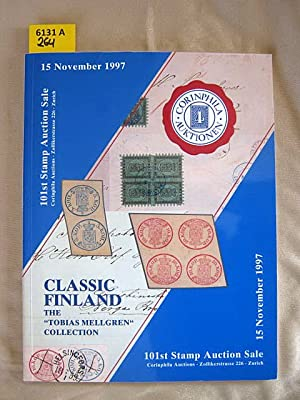 "101st Corinphila Stamp Auction Sale. Classic Finland. The ""Tobias Mellgren"" collection. ..."