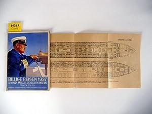 Billige Reisen 1937. Nach dem Nordland und den Glücklichen Inseln von RM. 95.-AN.: ...