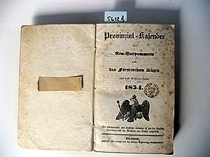 Provinzial-Kalender für Neu-Vorpommern und das Fürstenthum Rügen 1854. Auf das ...
