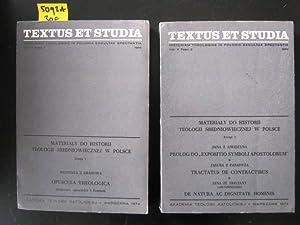 Materialy do Historii Teologii Sredniowiecznej W Polsce. Volumen II, Fasc. 1 + 2.: Krakowa, ...