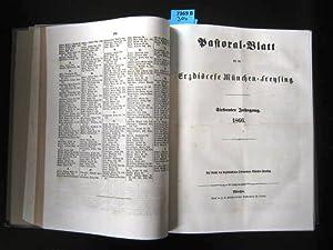 Pastoral-Blatt für die Erzdiöcese München-Freising. Jahrgang 1866.: Theologie. -