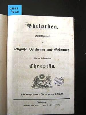 Philothea. Sonntagsblatt für religiöse Belehrung und Erbauung.: Theologie. -