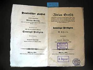 Sonntags-Predigten III. Theil. Herausgegeben von Leopold Scherlich, Prediger und Curator zu den ...