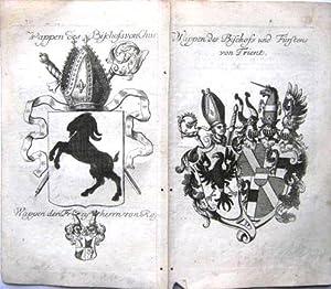 Wappen des bischofs von Chur. Und: Wappen des Bischofs und Fürstens von Trient.