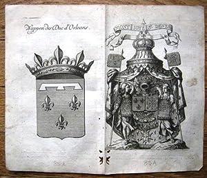Wappen des Duc d'Orleans und Wappen Mont Ioye St. Denys.