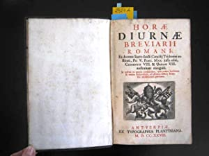 Breviarii Romani. Ex decreto Sacro-sancti Concilii Tridentinirestitui, PII V. Pont. Max. jussu ...