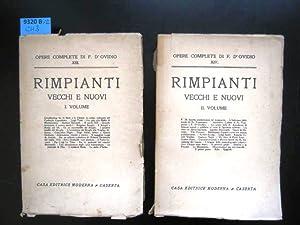 Rimpianti Vecchi e Nuovi. Vol. I +: D'Ovidio, Francesco.