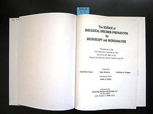 The Science of Biological Specimen Preparation for: Biology. - Sciences,