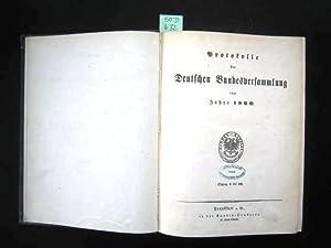 Protokolle der Deutschen Bundesversammlung vom Jahre 1860.: Politik. - Protokolle