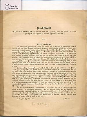 Denkschrift des Oberlandesgerichtsraths Dr. Fabricius über die Begründung und den umfang ...