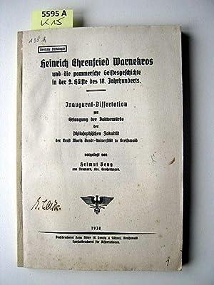 Heinrich Ehrenfried Warnekros und die pommersche Geistesgeschichte in der 2. Hälfte des 18. ...