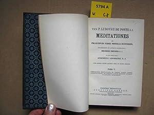 Ludovici De Ponte. Meditationes de Praecipuis Fidei: Lehmkuhl, Augustini. S.J.
