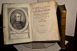 Opere varie del molto reverendo padre f. Paolo Sarpi dell'Ordine de' Servi di Maria ...