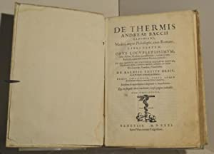 De Thermis. libri septem. in quo agitur: Bacci Andrea