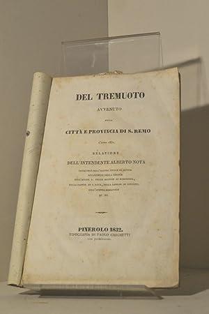 Del tremuoto avvenuto nella città e provincia di S. Remo l'anno 1831: relazione dell&#...