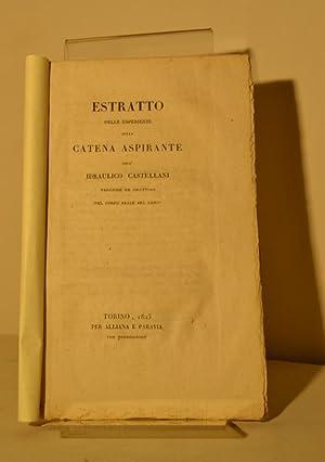 Estratto delle esperienze della catena aspirante: CASTELLANI Giuseppe