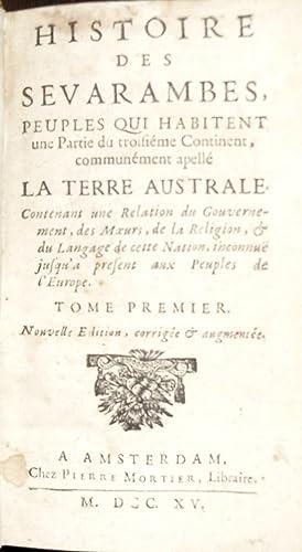 Histoire des Sevarambes, peuples qui habitent une partie du troisiéme continent, communement...
