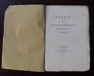 Poesie di Giovanni Gherardo De Rossi romano.: DE ROSSI Giovanni Gherardo