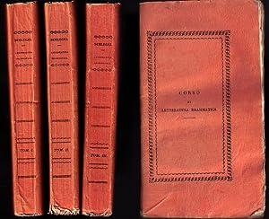 Corso di letteratura drammatica. Traduzione italiana con note di Giovanni Gherardini.: SCHLEGEL ...