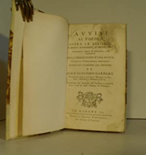 Avvisi al popolo sopra le asfissie, o morti apparenti e improvvise (.) colla descrizione d'una...