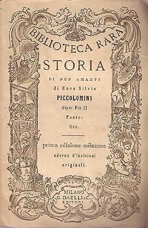 Storia di due amanti. Prima edizione milanese adorna d'incisioni originali.: PICCOLOMINI Enea