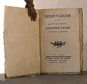 Dissertazione del dottor fisico Giuseppe Cerri intorno al polso: CERRI Giuseppe