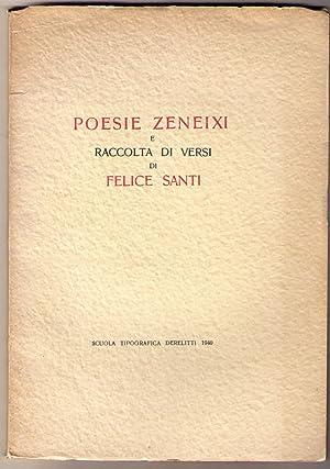 Poesie zeneixi e raccolta di versi: SANTI Felice