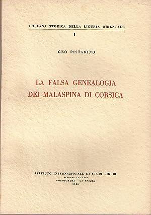 La falsa genealogia dei Malaspina di Corsica: PISTARINO Geo