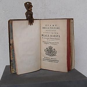 Esame della polvere dedicato a sua sacra reale maestà da Alessandro Vittorio Papacino D&#x27...