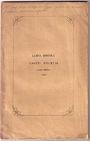 Latina epistola Uberti Folietae linguae italicae reddita ab Antonio Campanella ad matris Virginis ...