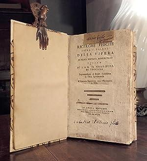 Ricerche fisiche sopra il veleno della vipera.: FONTANA Felice