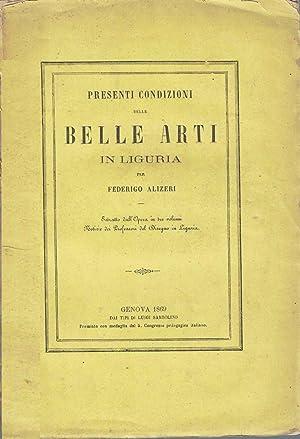 Presenti condizioni delle belle arti in Liguria: ALIZERI Federico
