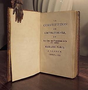 La constitution de l'Hotel-du-Roule ou les cent-une Propositions de la très-cél&...