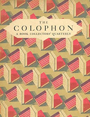 The Colophon; A Book Collector' Quarterly, Part Seven, 1931: Adler, Elmer & others, Editors