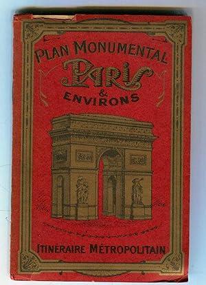Plan Monumental Paris et Environs, Itineraire Metropolitain: Leconte, Andre, Editor