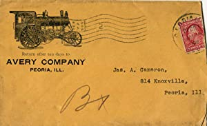 Avery Company Illustrated Postal Cover Used