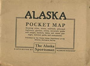 Territory of Alaska Pocket Map; showing cities, towns, railroads, principal highways, glaciers, r...