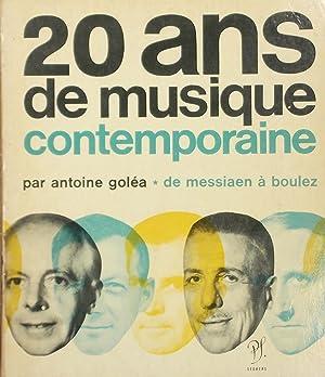 20 ans de musique contemporaine, I: de: GOLEA, Antoine