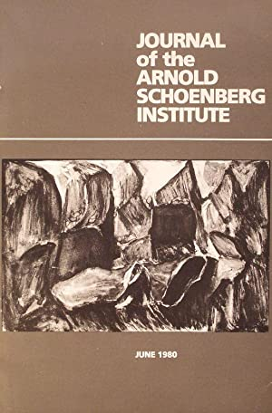 Journal of the Arnold Schoenberg Institute, Volume