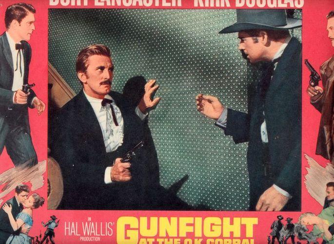 "8 (acht !) mehrfarbige Lobby Cards zu dem Film der Paramount Release: """"Gunfight at the O.K. Corral"""". Gunfight at the O.K. Corral:"