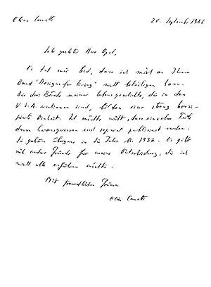 Schriftsteller (1905-1994; Nobelpreis für Literatur 1981): Eigenh.: Canetti, Elias: