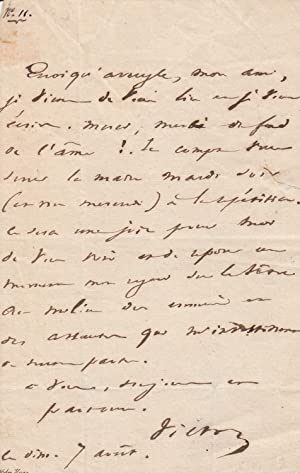 Lettre autographe à propos de Marion Delorme: VICTOR HUGO