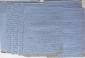 Manuscrit autographe signé de 6 pages 1/2: ALEXANDRE DUMAS PERE