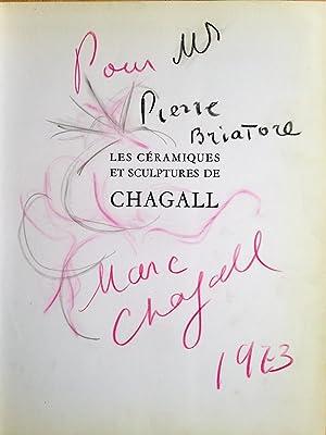 CHAGALL - Dessin original signé en page: Marc CHAGALL