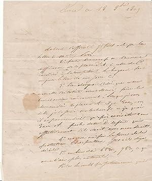 STENDHAL Lettre autographe signée à sa s ur: STENDHAL
