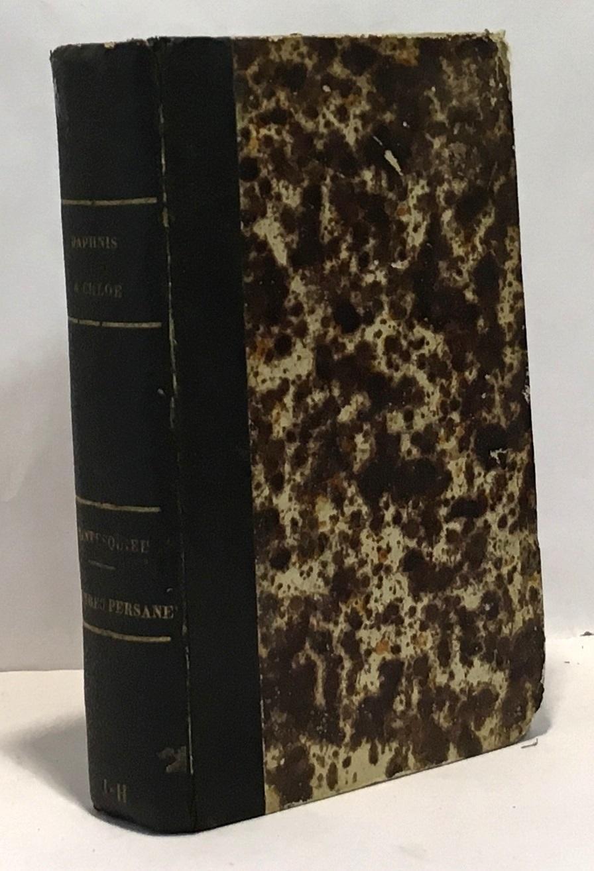 Daphnis et Chloé + Lettres Persanes (1864) --- 2 livres compilés en un volume Longus Courier (traduction) + Montesquieu [ ]   in16. Relié. pages. livre petit format: in 16 --- Daphnis et Chloé + Lettres Persanes (1864) --- 2 livres compilés en un volume. Etat correct