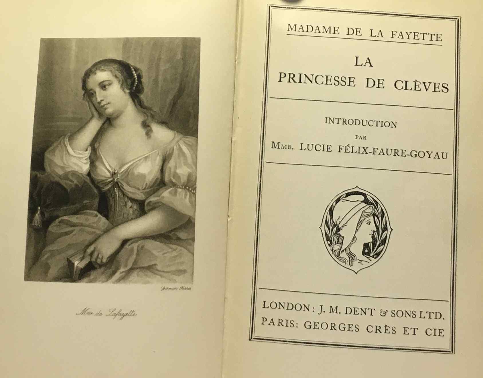 La princesse de clèves. de Mme de la Fayette.
